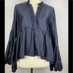 Zara Eyelet Bell Sleeves Blouse.